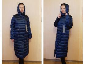Новый длинный зимний пуховик пальто 44 46 50 и 54