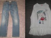 кофточка и джинсы р.116