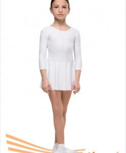 Купальник гимнастический юбка-сетка (хлопок) 2 цв, р-р 26-44