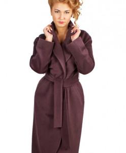 Классическое пальто с круглыми лацканами, инжир