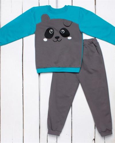 Спортивный трикотажный комплект: штаны и кофта с принтом