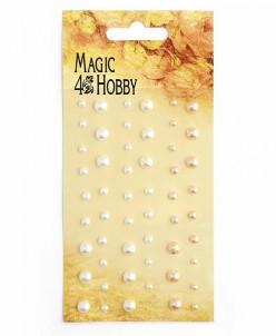 Полужемчужины клеевые Magic Hobby арт.MG PE 107 уп.54 шт