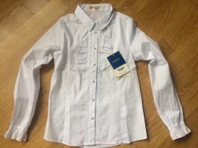 Блузка школьная Button Blue,р.134.