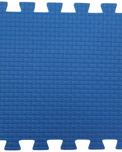 Мягкий пол 33*33*0,9 см синий, 9 деталей