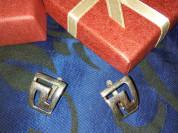 Серьги серебро 925проба английский замок