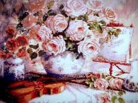 Готовая картина,алмазной мозаикой