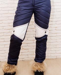 Женские зимние брюки, с контрастной вставкой