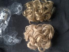 Новые Пучок/ парик/ волосы на заколках гребешках