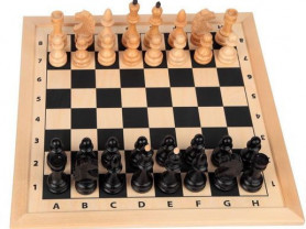 Шахматное поле с фигурами