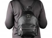 Новый женский кожаный рюкзак черный