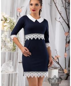 Платье с кружевом - 10878