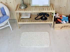 Вязаный безворсовый коврик Vintage, Бежевый