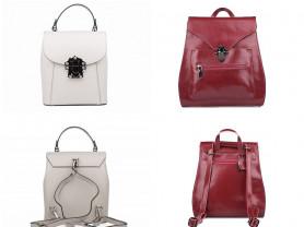 Новые кожаные женские рюкзаки ассортимент