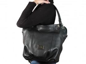 Новая кожаная сумка черная Gaude Италия