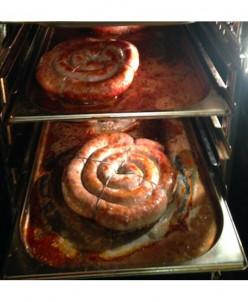 Натуральная жареная колбаса
