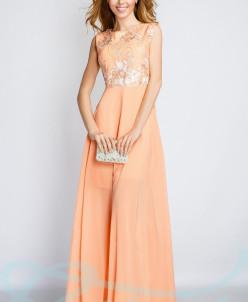 Длинное шифоновое платье Gepur