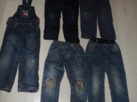 Джинсов комбинезон джинсы на флисе штаны утепл.4-8