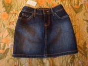 Новая джинсовая юбка 6-7 лет
