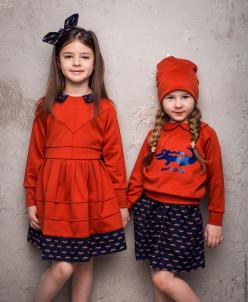 """Трикотажное платье """"CROCOCO Red"""""""