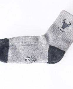 Носки из шерсти яка серые