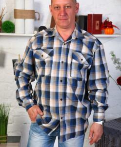 Рубашка мужская шотландка