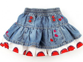 Catimini новая юбка с оборкой  р.4года