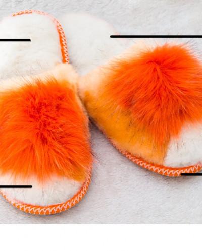 Тапочки женские Серые. 100% овчина