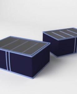 Короб для обуви (высокий) классик синий