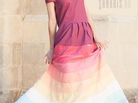 Льняное платье Санабис «Малиновый заказ»