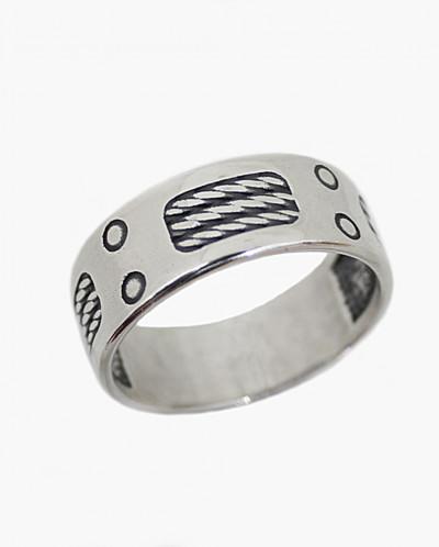 Кольцо мужское из серебра Рокер Юмила