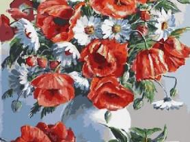 Картины по номерам GX 3812 Маки и ромашки