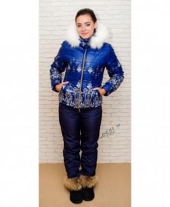 Женский зимний костюм с курткой уточкой