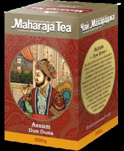 """Чай Махараджа индийский чёрный байховый Ассам """"Дум дума 200г"""