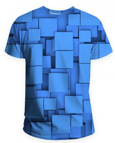 Футболка мужская Синие квадраты