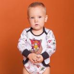 Фуфайка (боди) длинный рукав для мальчика