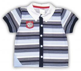 """Рубашка """"Маленький путешественник"""", сине-голубая 42084-03"""