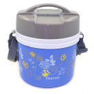 Термос для пищи с двумя контейнерами голубой