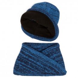 Комплект шапка и шарф хомут вязанный для мальчика №3
