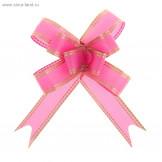 """Бант-бабочка №1,8 """"Золото"""", цвет розовый"""