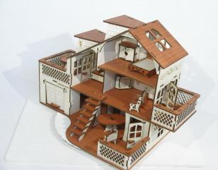 Кукольный домик (52 х 35 х 27 см)