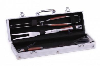 Набор инструментов для барбекю 4 пр. в чемодане