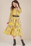 платье Teffi Style Артикул: L-1486 лимонный