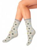 "Хлопковые женские носки с рисунком ""Кружки"" (MADEMOISELLE)"