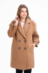 Шерстяное пальто с длинными рукавами