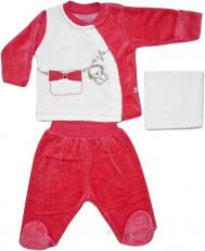 Комплект подарочный велюровый Aziz bebe, 3 предмета