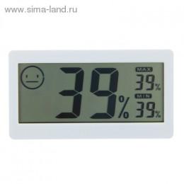 Термометр электронный с гигрометром (DC206), на батарейках,