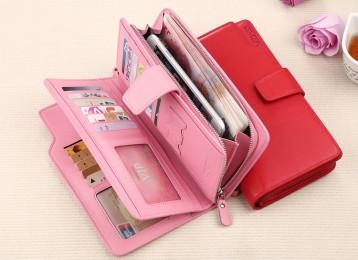 Кожаный бумажник с отделами для карт