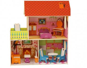 Красный кукольный домик 90см