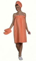 Комплект женский махровый для бани и сауны, 100% хлопок