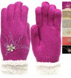 """Перчатки подростковые вязаные """"Rubi"""" (обхват ладони 17см)"""